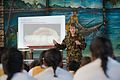 Staff Sergeant Sharon Wichman talks about the importance of oral hygiene to students of Paul VI College - Flickr - NZ Defence Force.jpg