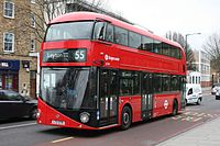 Stagecoach London LT379 on Route 55, Clapton Pond (16063247983).jpg