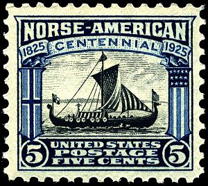 Norse-American Centennial - A U.S. postage stamp featuring the ship ''Viking'' honoring the 100th anniversary of Norwegian immigration.