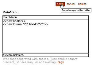 TiddlyWiki - A standard edit dialog on a tiddler
