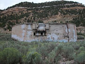 Standardville, Utah - The coal storage unit in Standardville