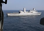 Starboard view of USS Anchorage (LPD-23) underway in the Arabian Sea from helicopter 190107-N-AN781-1029.jpg