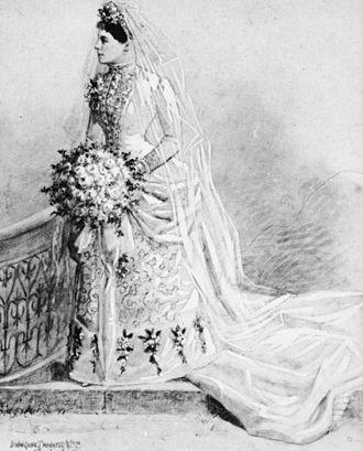 Richard Casey (Queensland politician) - Bridal photograph of Evelyn Jane Casey, née Harris, 1888