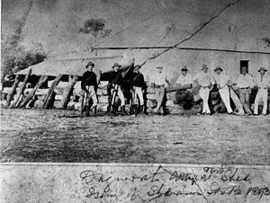 Dagworth Station - Troopers at Dagworth Station during the shearer's strike in 1894