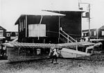 StateLibQld 2 184571 Building a light aircraft in a suburban backyard at Ascot, Brisbane, 1920s.jpg
