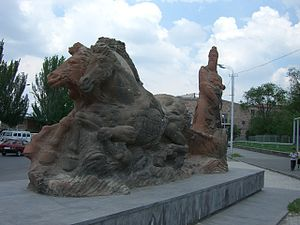 Argishti I of Urartu - Monument of Argishti in Yerevan, Armenia