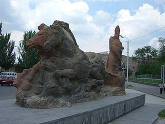 Argishti I of Urartu - Monument of Argishti in Yerevan, Armenia