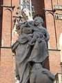 Statue of Madonna and Child Wroclaw Cathedral Square.jpg