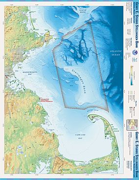 Map showing the location of Stellwagen Bank National Marine Sanctuary