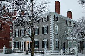 Historic New England - The Phillips House is  located at 34 Chestnut Street, Salem, MA. It is owned and operated as a historic house museum by Historic New England and is open for public tours.