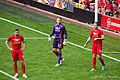Steven Gerrard, Simon Mignolet, Jordan Henderson - Gerrards testimonial.jpg