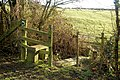 Stile and bridge on the path from Barby, Tiltup's Holt Farm - geograph.org.uk - 1639700.jpg