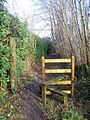 Stile on footpath, near 82 The Heath - geograph.org.uk - 1139300.jpg