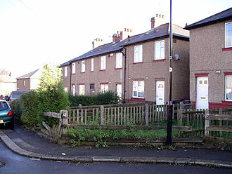 Keeping Up Appearances - The council terrace in Stoke Aldermoor occupied by Daisy and Onslow