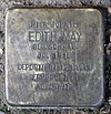 Stolperstein Courbièrestr 7 (Schön) Edith May.jpg