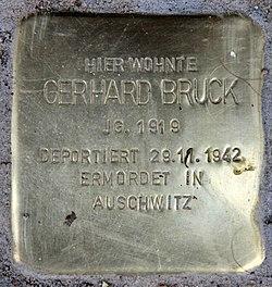 Photo of Gerhard Bruck brass plaque