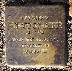 Photo of Richard Josef Schaefer brass plaque