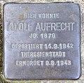 Stolperstein Moselstr 4 (Fried) Adolf Aufrecht.jpg