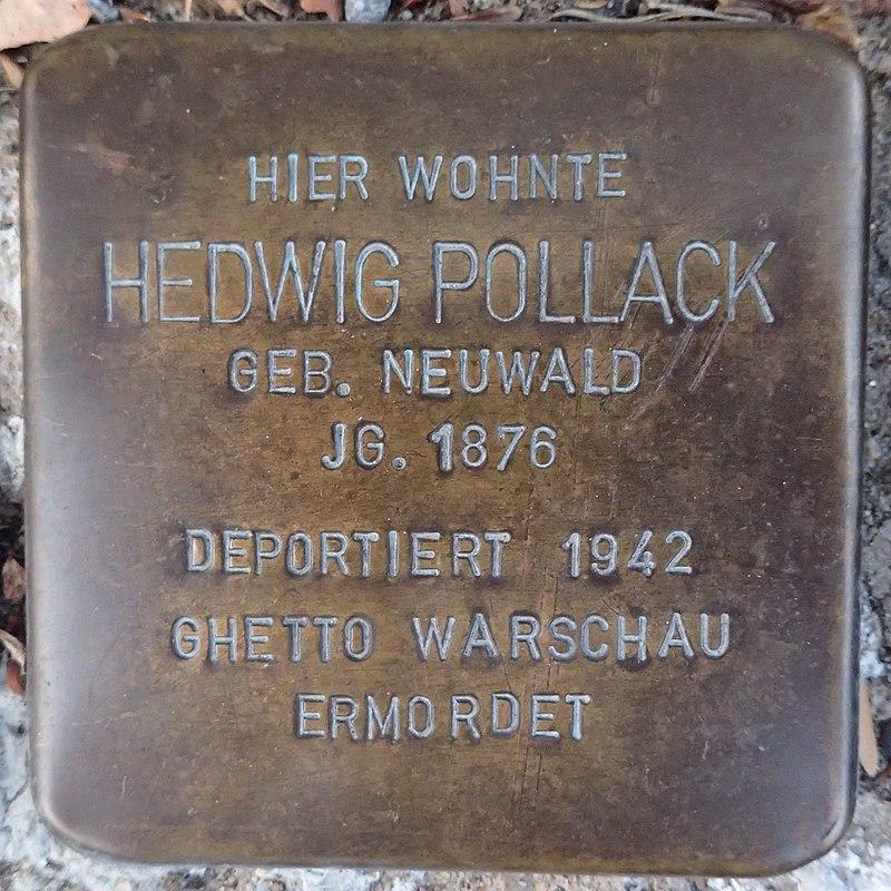 Stolperstein für Hedwig Pollack geb. Neuwald