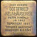 Stolperstein Salzburg, Gottfried Neunhäuserer (Stiftshof St. Peter).jpg