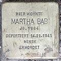 Stolperstein Stierstr 18 (Fried) Martha Bab.jpg