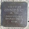 Stolperstein Windeck Dattenfeld Hauptstraße Gertrud Simon.JPG
