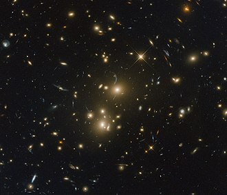 Galaxy cluster - Image: Strings of homeless stars RXC J0232.2 4420