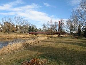 Sturgeon River (Alberta) - The Sturgeon River in St. Albert