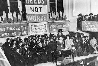 "United Kingdom employment equality law - The Women's Social and Political Union became known for its militant activity. Emmeline Pankhurst once said that ""the condition of our sex is so deplorable that it is our duty to break the law in order to call attention to the reasons why we do."""