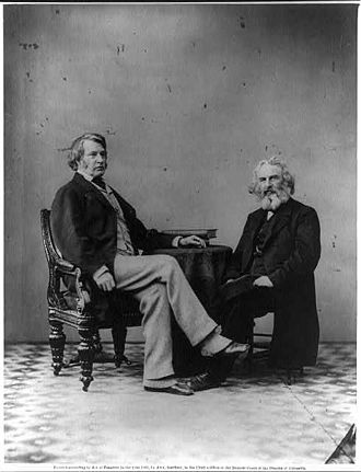 Saturday Club (Boston, Massachusetts) - Image: Sumner and Longfellow