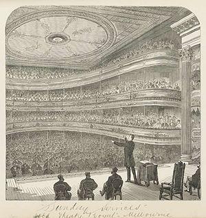 Gallery (theatre) - Theatre Royal, Melbourne c. 1873
