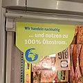 Supermarket sign advertising Ökostrom.jpg