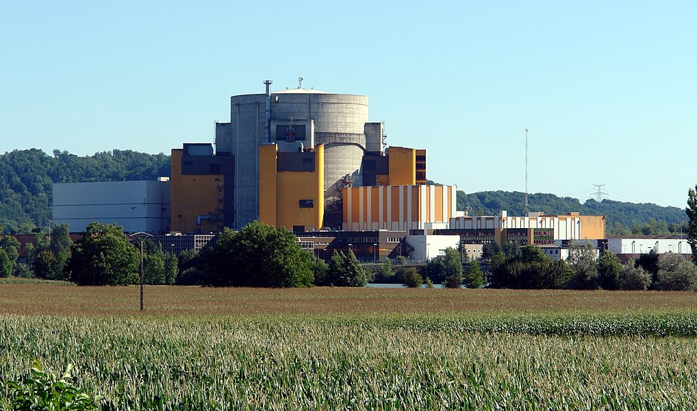 Superphenix, Nuclear reactor of Creys-Malville, east side, Isère, France.