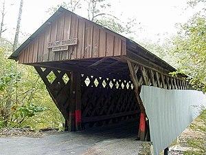 Swann Covered Bridge - The Swann Covered Bridge near Cleveland, Alabama before its recent restoration.