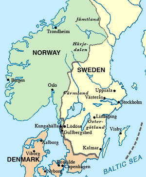 Treaty of Lödöse - Southern Scandinavia in 1250