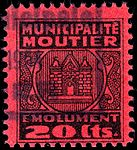 Switzerland Moutier 1945 revenue 2 20c - 9a.jpg