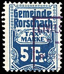 Switzerland Rorschach 1909 revenue 5Fr - 14.jpg