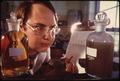 "TECHNICIAN AT SEWAGE TREATMENT PLANT PERFORMS A ""BIOLOGICAL OXYGEN DEMAND"" TEST - NARA - 543834.tif"