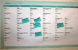 Tromsø International Film Festival - Information board