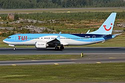 Boeing 737-8 MAX der TUIfly Nordic