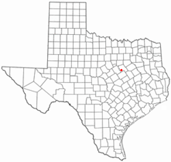 Location of Aquilla, Texas