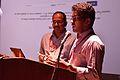 T Vishnu Vardhan with Om Shivaprakash HL - Invited Talk - Bengali Wikipedia 10th Anniversary Celebration - Jadavpur University - Kolkata 2015-01-09 2741.JPG