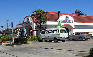 A typical Taco Bell fast food restaurant in Sa...