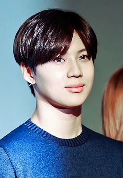 Taemin at press conference SMTown The Stage 06.jpg