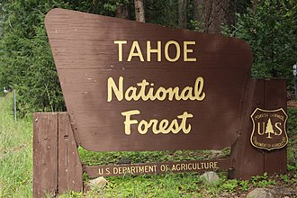 Tahoe National Forest - Entrance sign