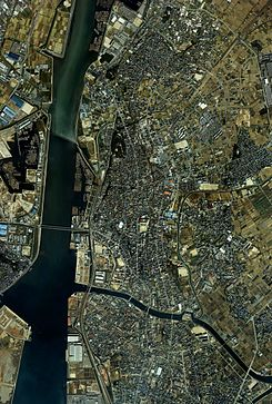 Takahama city center area Aerial photograph.1987.jpg