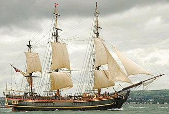 Bounty (1960 ship) - Image: Tall ships, Belfast Lough 2009 (10) geograph.org.uk 1447997