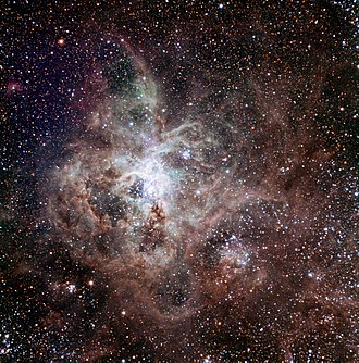 Tarantula Nebula - The Tarantula Nebula, first light image of the TRAPPIST national telescope at La Silla Observatory