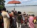 Tarpan or Tarpana ritual - Gopal Ghat in Kolkata 02.jpg
