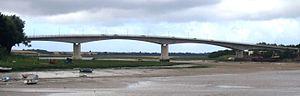 Barnstaple Western Bypass - Taw Bridge from Barnstaple